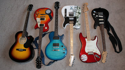 Some of his guitars